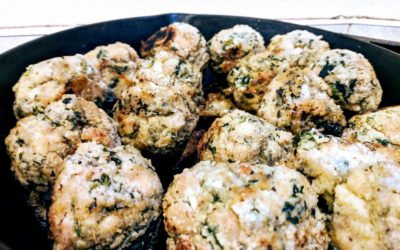 Chicken and Spinach Breakfast Bites (Whole Meal)
